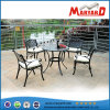 Cast Aluminum Garden Set with Four Chairs and One Table
