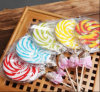 Rainbow Swirl Hard Lollipop Candy Confectionery
