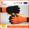 Ddsafety 2017 Fluorescence Acrylic with Napping Liner Black Latex Foam Coated