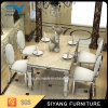 Home Furniture Set Marble Table Stainless Steel Dining Tables