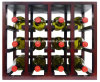 Factory Outline Wine Display Stand with Display Rack Bottle Storage