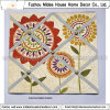 Flower Printed Canvas Memo Board for Home Decor