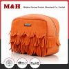 Yellow PU Leather Storage Pouching Bag Mini Makeup Bag