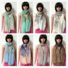 100% Polyester, Voile Material Multifunctional Scarf with Printing