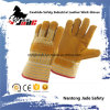 9.5 Full Palm Industrial Safety Yellow Cowhide Leather Work Gloves