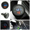 3in1 Car 12V Digital LED Voltmeter Thermometer USB 2.1A Charger