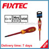 Fixtec Safety Hand Tools CRV Slotted Phillips Pozidriv Insulated Screwdriver