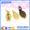 Customized Mini Oval Shape Logo Charm for Jewelry