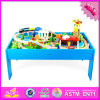 2016 Wholesale Baby Wood Train Table, Funny Kids Wood Train Table, 88 Pieces Wood Train Table W04c061