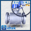 Didtek Carbon Steel Ball Valve Soft Seated with Worm Gear