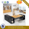Big Side Return Table Attached MDF Wooden Office Table (UL-MFC599)