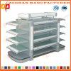 Popular Supermarket Gondola Double Sides Display Shelves (ZHs656)