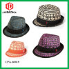 Straw Fedora Hats with Braid and Ribbon (CPA_60114)