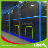 100 Sqm Square Meter Small Blue Low Height Trampoline Area with Bounce Walls