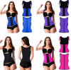 Women′s Sexy Latex Steel Boned Waist Trainer Corset (T8332)