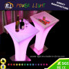 Event Party Plastic Cocktail Table LED Poseur Table