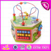 2015 Top Bright En71 Kids Activity Cube Maze Toy, Multifunctional Wooden Beads Maze Toy, Colorful 3D Around Beads Maze Toy W11b062