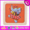 2015 Hot Sale Wooden Puzzle Game for Kid, Educational Jigsaw Puzzle Toy for Children, Lovely Elephant 3D Wooden Puzzle Toy W14c180