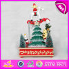 2015 Multi Colors Cheap Price Wooden Music Box, The Xmas Tree Wooden Music Toy for Gift, Christmas Tree Dancing Music Box W07b013b