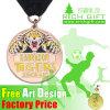 Custom Plated Antique Bronze Metal Football Medal for Sport Match