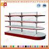 Round Head Shelf Double Sides Wire Back Supermarket Shelves (ZHs627)