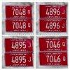 Custom Embossed Printable Car Number Plate /Car Plate/Decorative Reflect Car Plates
