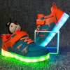Chargeable Flash Night Luminous Sneakers Children Yeezy Kids Shoes LED Light for Girls Boys