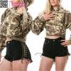 Laced up Black Cutoff Shorts L548