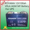 Koyama 12V100ah VRLA AGM Mf Battery for UPS