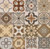 600*600mm Glazed Decoration Tile Rustic Floor Tile Wall Tile for Hotel Decoration Spanish Style No Slip Sh6h008/09
