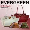 2017 New Lady Tote Bag Wide Colorful Strap Bags Genuine Leather Hand Bag Fashion Studded Women′s Bag Lady Designer Handbag Emg4768