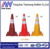 700mm Flexible PVC Road Cone with Black PVC Base