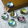Crystal Crafts Half Ball Paperweight
