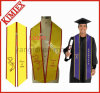 University Satin Fabric Embroidery Logo Graduation Stole Sash