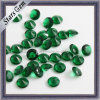 Cheap Price Emerald Color Round Crystal Glass Synthetic Gems