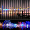 Jumping Jet Water Fountain /Dancing Waterfall Fountain with Colorful Lighting
