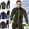 Mens Fleece Thermal Winter Cycling Long Sleeve Jersey & Pant