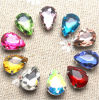 Waterdrop Sew on Rhinestone with Claw Setting Silver Back Acrylic Stone with Metal Claw (SW-Drop 10*14mm)