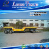 Flatbed Utility Full Trailer with Concave Beam
