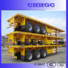 40ft 3 Axle Flatbed Container Semi Trailer with Fuwa Axle for Sale
