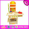 2014 New Pretend Children Toy Kitchen, Popular Children Toy Kitchen Set and Best Seller Wooden DIY Children Toy Kitchen W10c081A