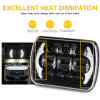 Daytime Running Light High Low Beam T004 6*7 Square Auto Parts Lamps LED Headlight