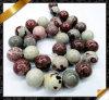 Fashion Jewelry, Picture Jasper Flower Beads Jasper Jewellery (GB086)