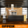 Luxury Dark Gold Wooden Lacquer Kitchen Cabinets with Island (OP16-L20)