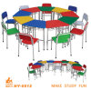 Cheap Colorful Kids Study Desk and Chair for Preschool Students