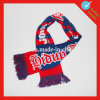 Soccer Football Acrylic Knitted Jacquard Scarf