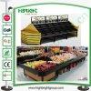 New Design Wooden Fruit Display Shelving Racks for Big Store