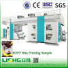 4 Colors Plastic Bag Central Drum Flexographic Printing Machine