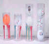 Pet Plastic Clear Hard Golf Set Ball Packing Round Tube