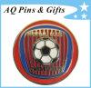 Metal Imitation Cloisonne Football Lapel Pin Badge (badge-053)